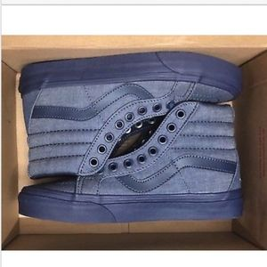 Vans Sk8 Hi Reissue Mono Chambray Navy Navy Shoes